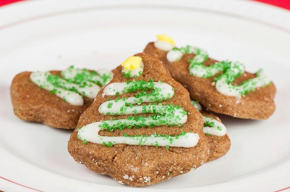 Mini Gingerbread Christmas Tree Cookies (5 bags, 8 per bag)