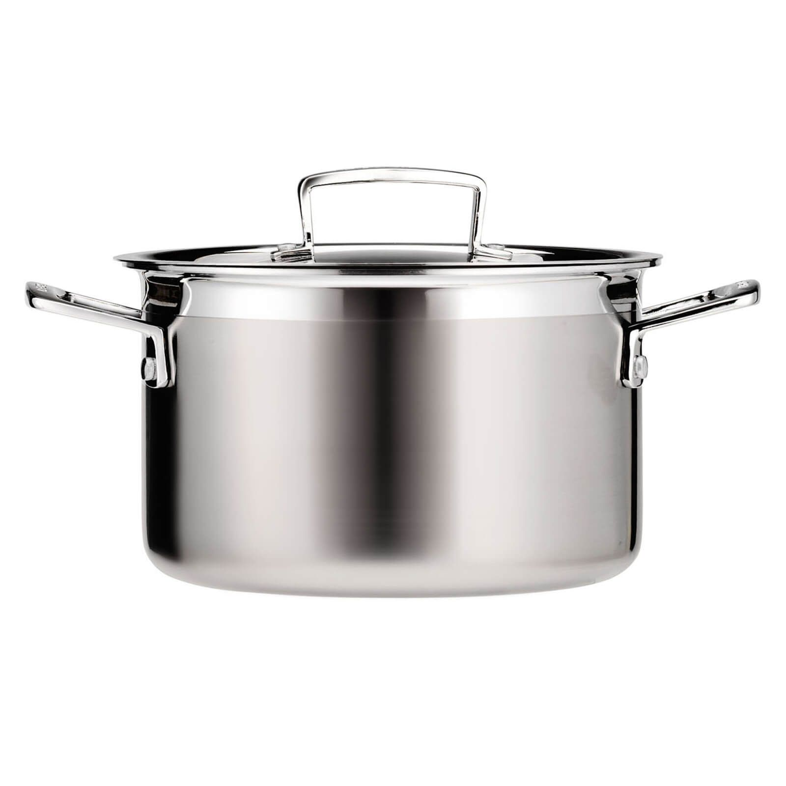 Dutch Oven Buch Le Creuset 3 Ply Stainless Steel Deep Casserole Dish 20cm In