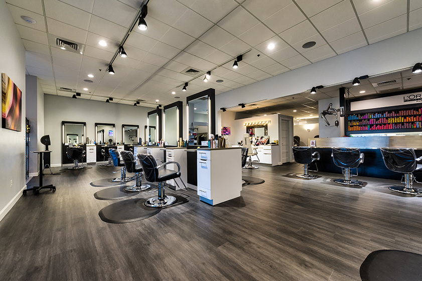 Jordan Thomas Salon At Amyclae Bel Air Md Cobalt Hushcore Spartansurfaces Lvt Floorscore Flooring Sale Commercial Flooring Flooring
