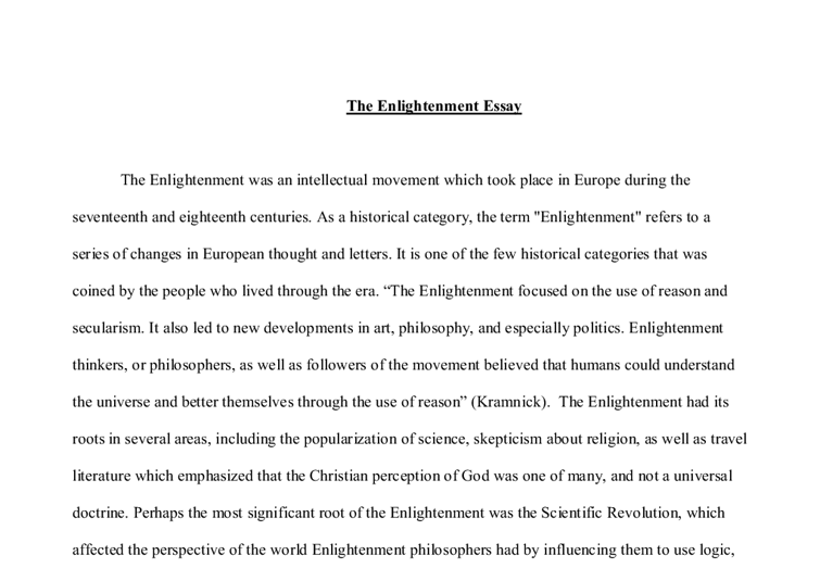 essay on the enlightenment thinkers   better opinion  baseball  essay on the enlightenment thinkers   better opinion