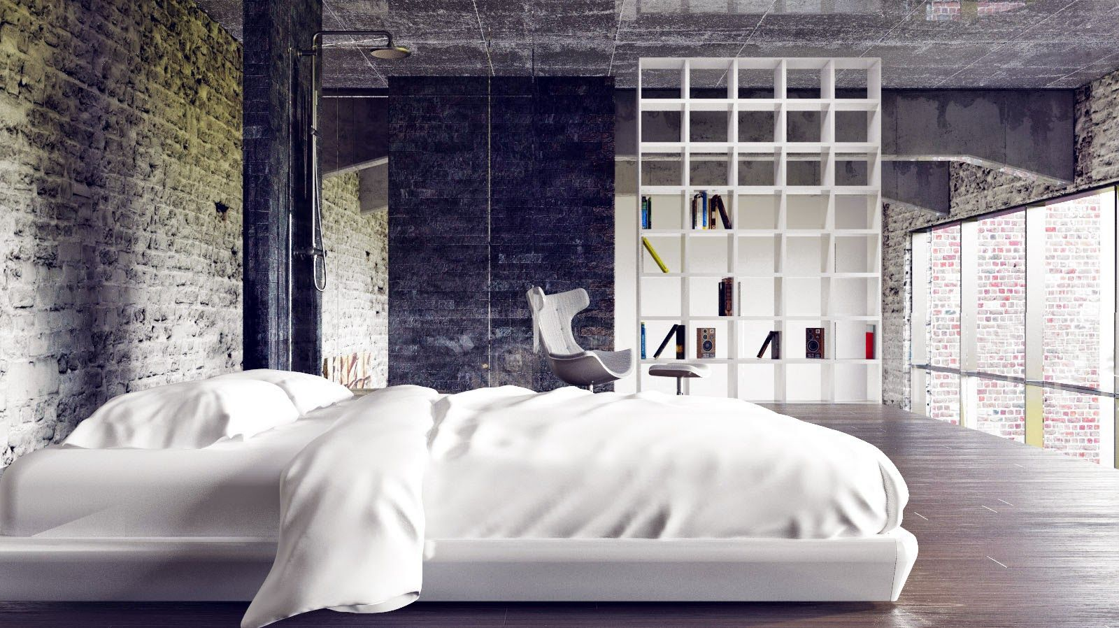 Bedroom Amazing Urban Modern Industrial Interior Style Loft Bedroom Design Ideas Cool Loft Bedroom Desig Industrial Bedroom Design Urban Bedroom Modern Bedroom