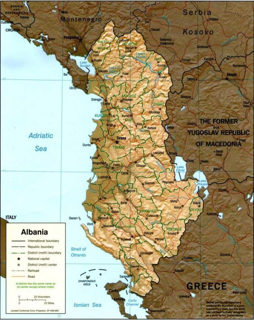 Map of Albania Albania Pinterest