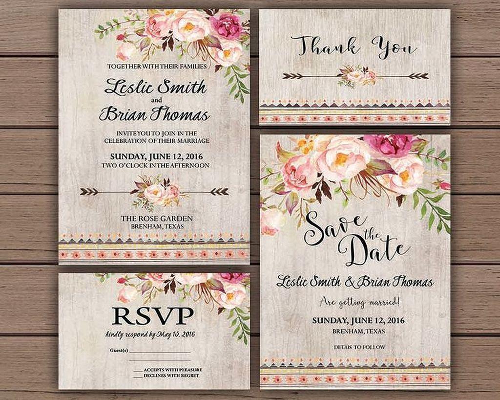 50 Lovely Floral Wedding Invitation Ideas Invitation Ideas