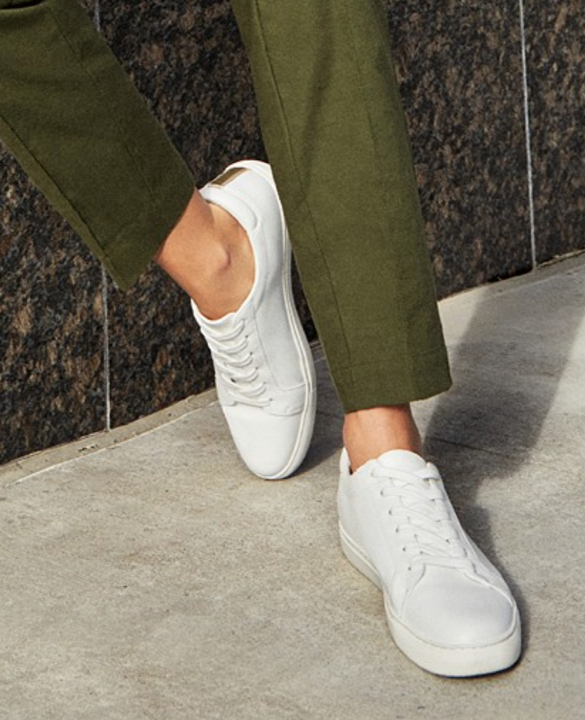 Women's Kam White Lace-Up Sneakers