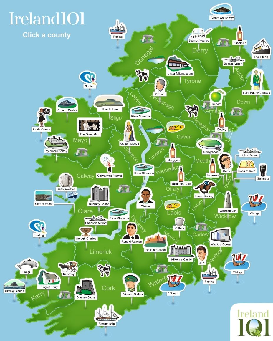 Map Ireland Ireland Trip to Ireland in 2019