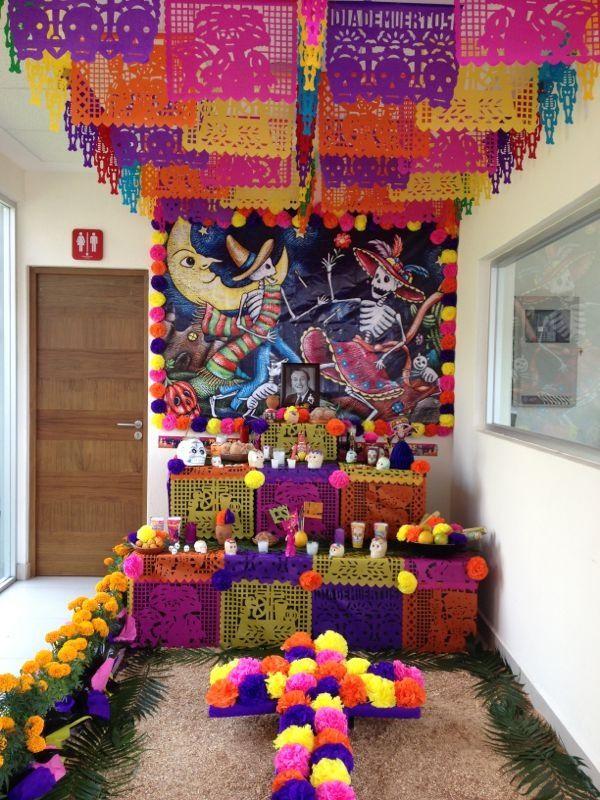 Día De Los Muertosday Of The Deadaltar De Muertos Mexico