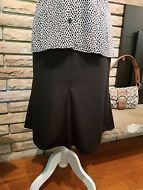 Harve Bernard Holtzman Women's Plus Size 14 Black Knee Length Lined Skirt