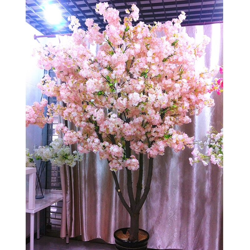 Artificial Cherry Blossom Tree 120 Heads Vertical Silk Cherry Trees Diy Wedding Christmas Valentine S Party Fake Flowers Decor Orc32943957099 20 61 Outdo In 2021 Artificial Cherry Blossom Tree Fake Flowers Decor Cherry Blossom Flowers