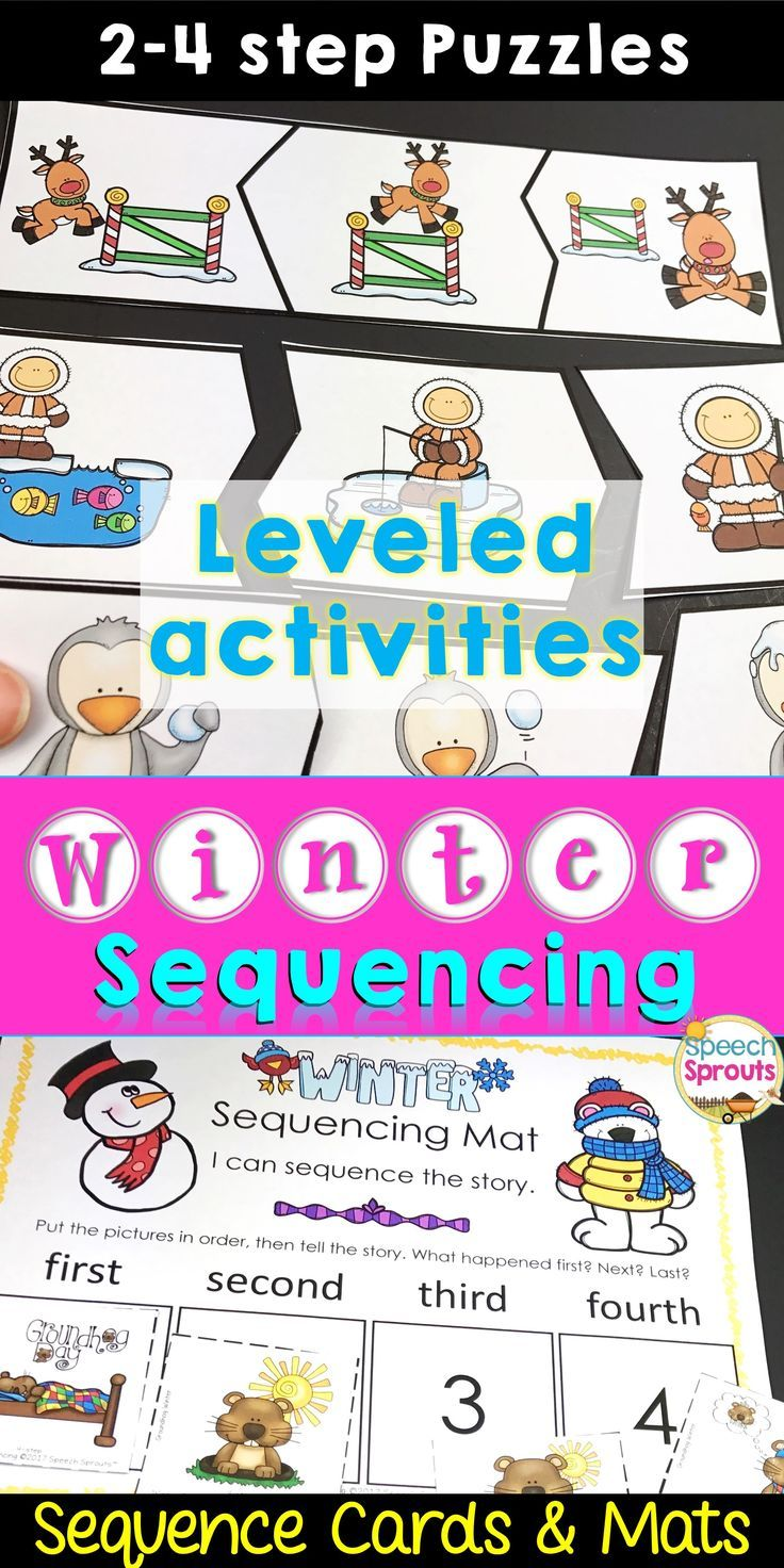 winter sequencing activities with story retell writing prek speech language story. Black Bedroom Furniture Sets. Home Design Ideas