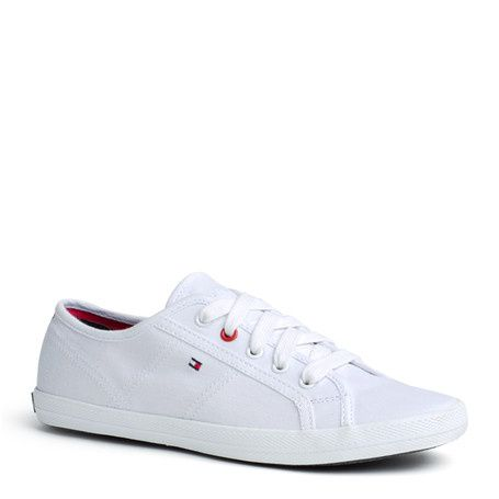 Tommy Hilfiger Flag Logo Lace Up Sneakers Sm0v8