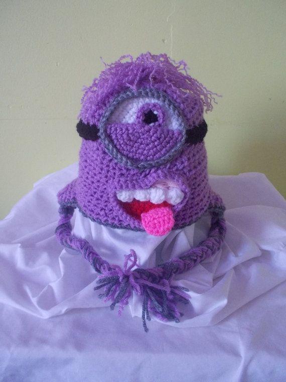 Crochet Minion Toy Crochet Minion Hat by StephanieTwistedYarn ...