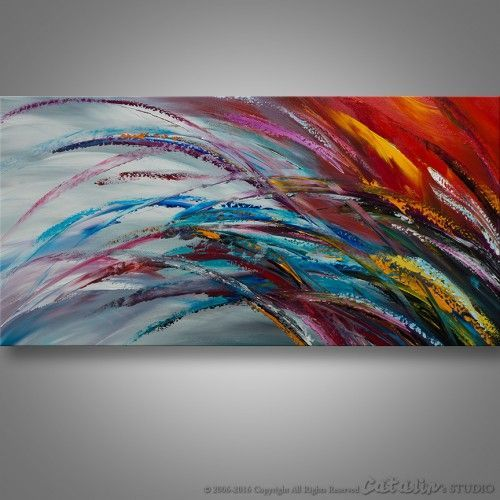Abstract Palette Knife Painting Modern Painting Art LARGE
