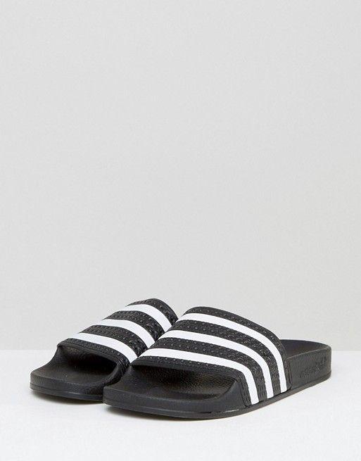 33840612f adidas Originals Adilette slider sandals in black | Shoes | Adidas ...