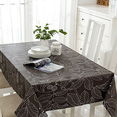 SITUMI Tablecloth Table Cover Thick Linen Cafe Dining Room Gray