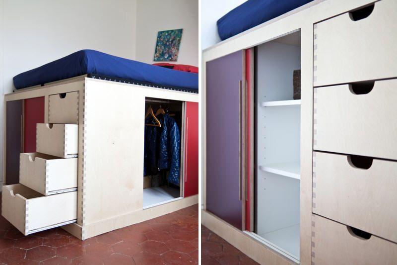Un Lit Dressing Pour Mon Petit Espace Architecture border=