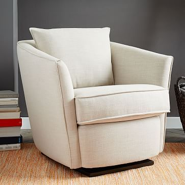 Duffield Swivel Chair | West Elm | Living Room | Pinterest | Sillas ...