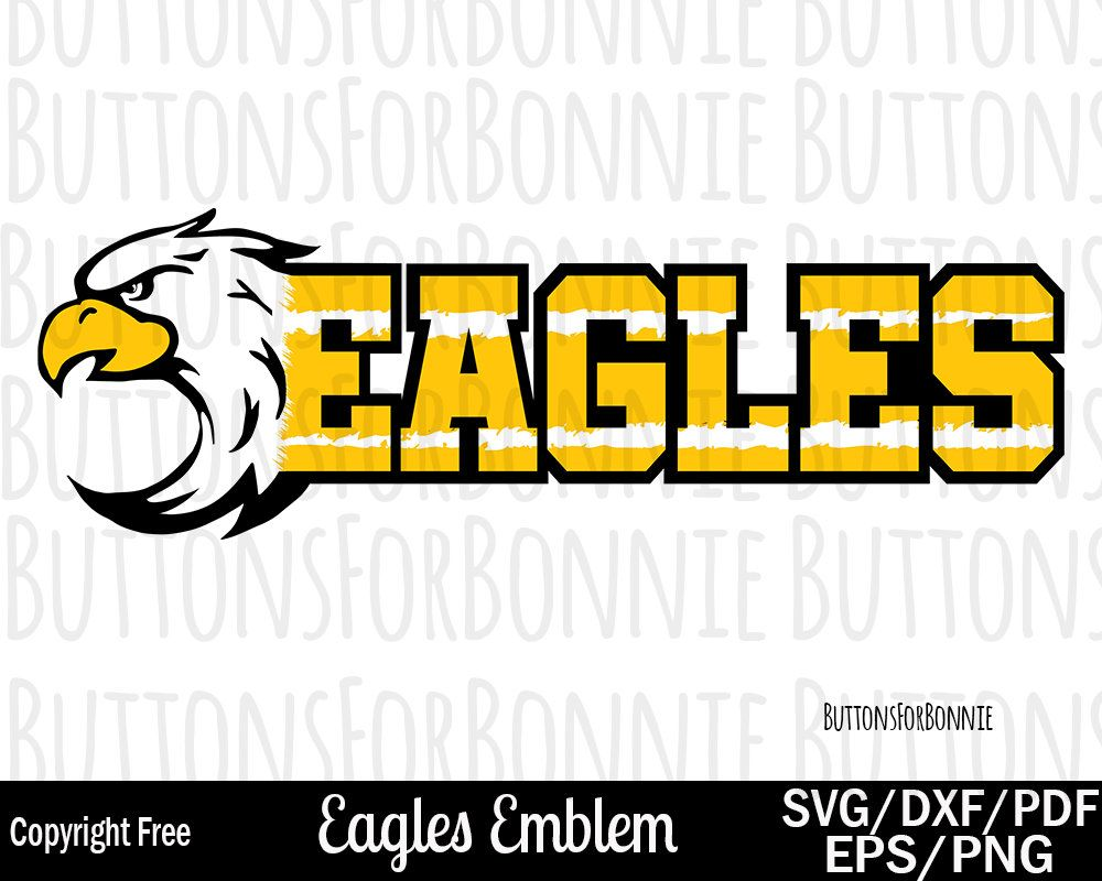 b3a64169 Eagles svg, eagle mascot, black, gold, emblem, logo, team, sports svg,  football, football mom, soccer svg, baseball svg, cut file, ...