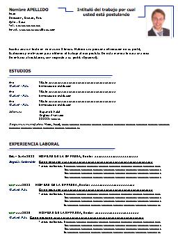 Formato De Resume Cool Modelo 34 Cv  Ejercicios  Pinterest  Curriculum Vitae Para .