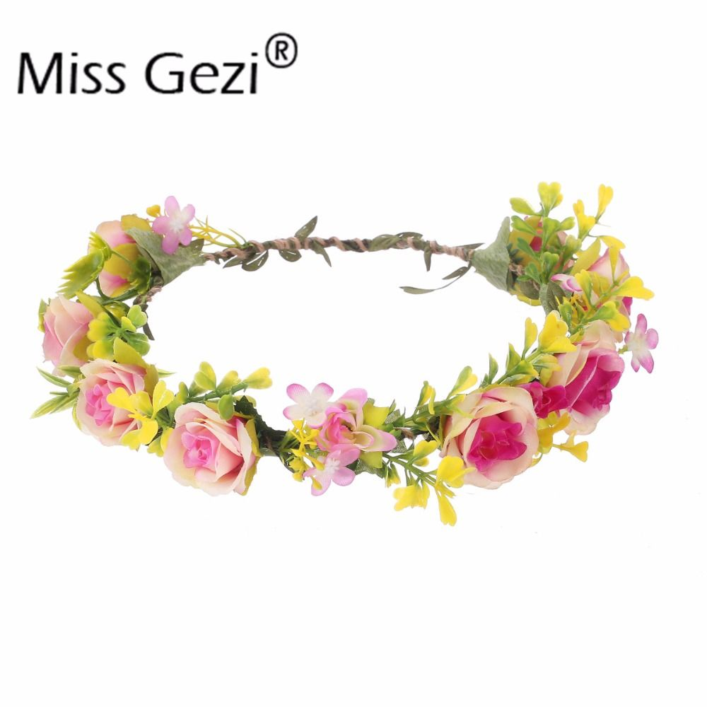 Find more hair accessories information about 6pcslot handmade rose find more hair accessories information about 6pcslot handmade rose hair flower headband floral crowns izmirmasajfo Images