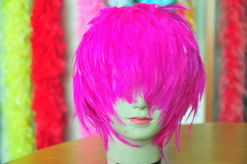 Wig Feather Wig Hackle Feather Wig Halloween Costume Wig Swan Bird Wig