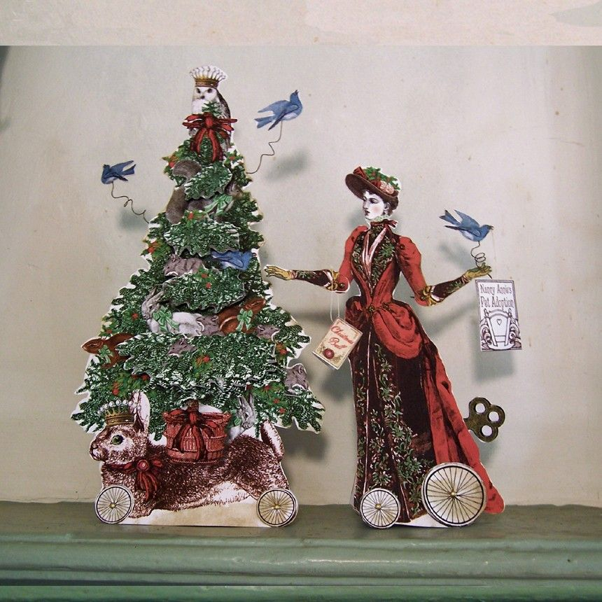 Paper Doll Printables  Victorian Steampunk Snow Parade and