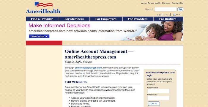 Amerihealth Bill Pay Online Login Customer Service Sign In