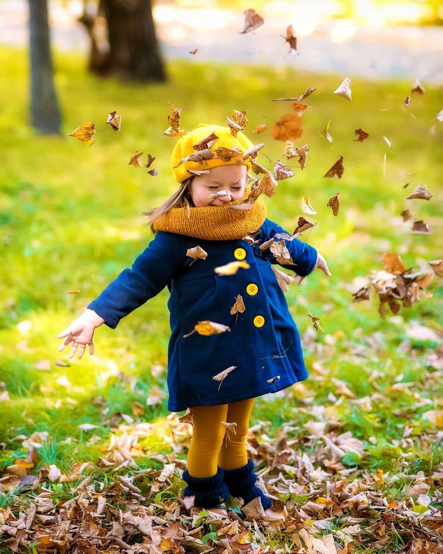 Осень дети картинки смешные
