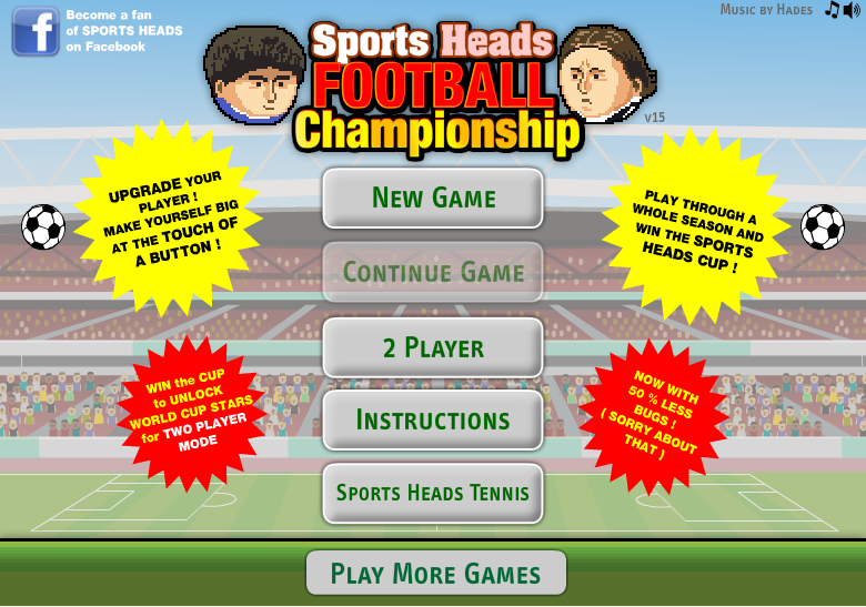 The most popular big head football game of chappionship