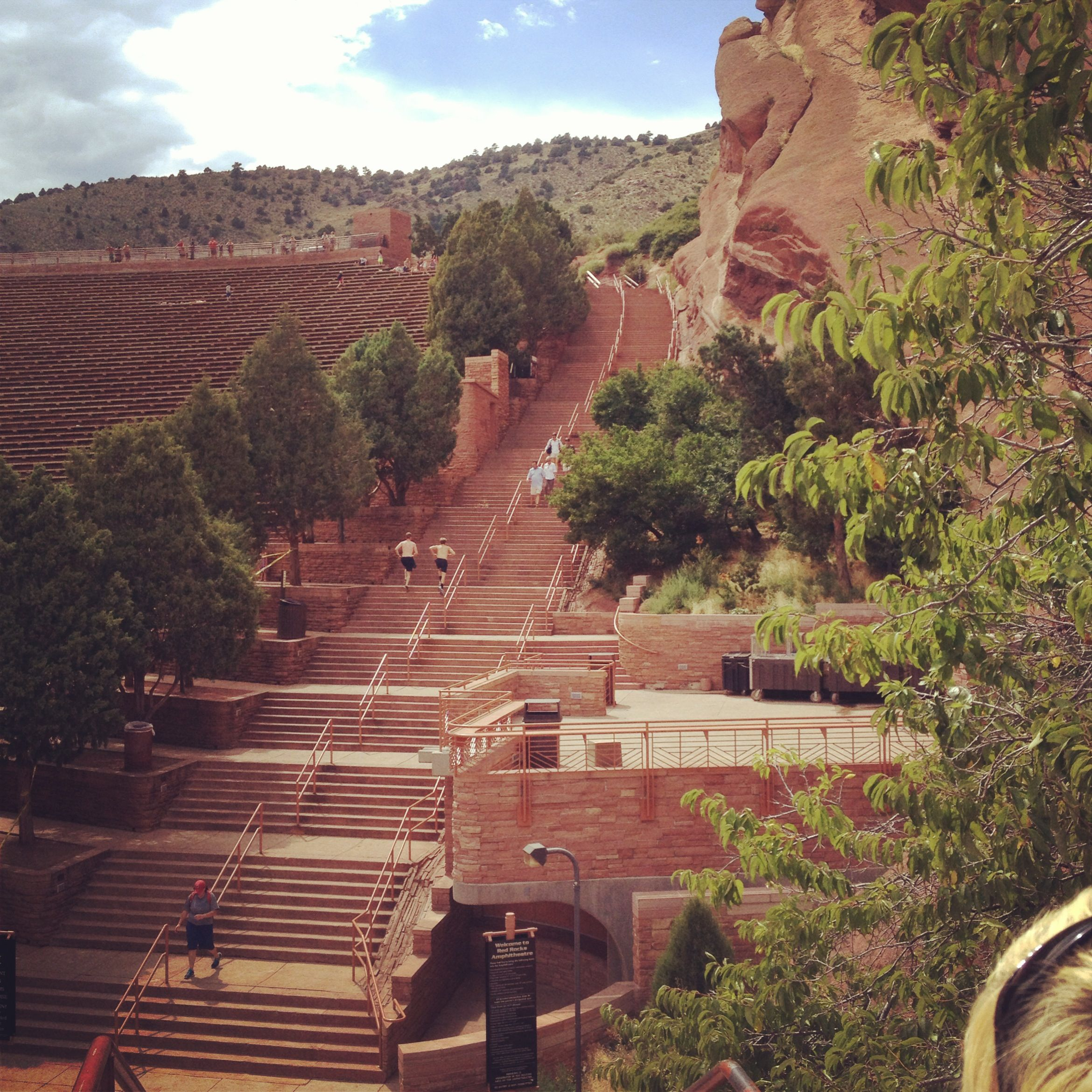 Image result for red rocks amphitheater stair climb