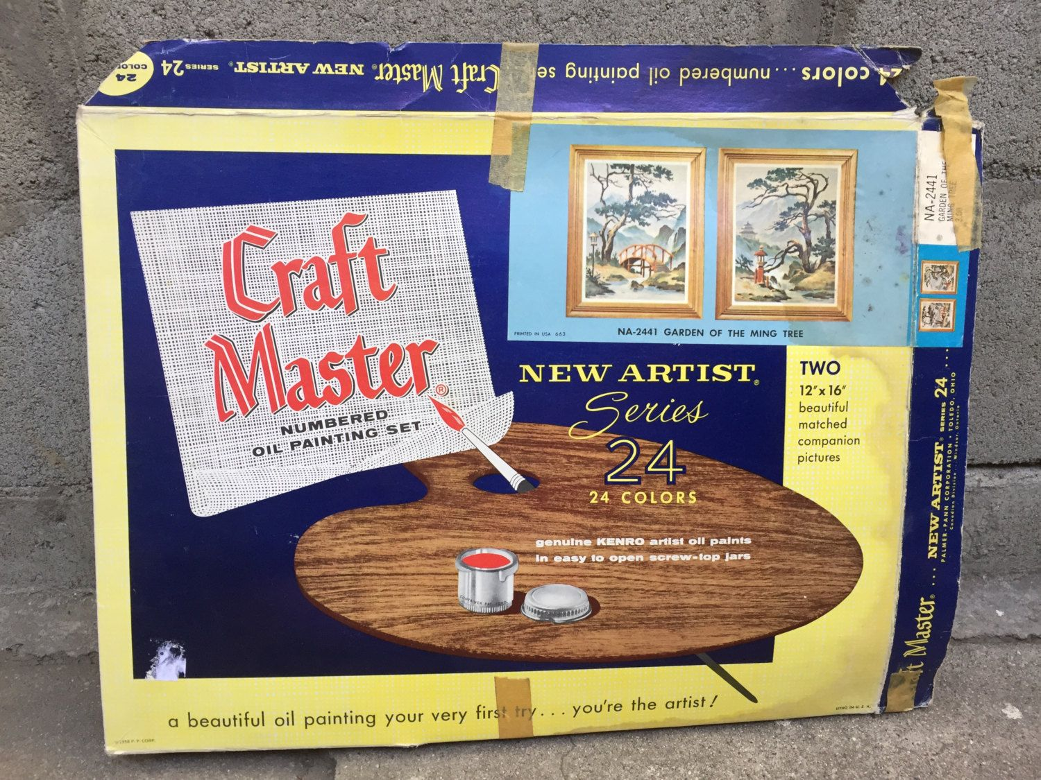 Craft master paint by number kits - 1963 Craft Master Paint By Numbers Kit Garden Of The Ming Tree