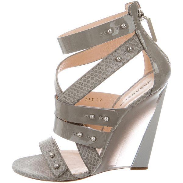 Casadei x Prabal Gurung Snakeskin & Patent Wedge Sandals marketable cheap online lS07rH852