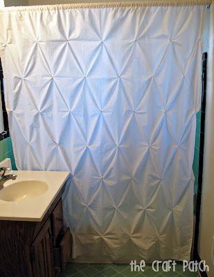 Pin Tuck Shower Curtain From Sheet Link To Tutorial The Craft Patch Home Decor