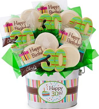 Happy 30th Birthday Flower Pot Cookie Bouquets Pinterest Happy