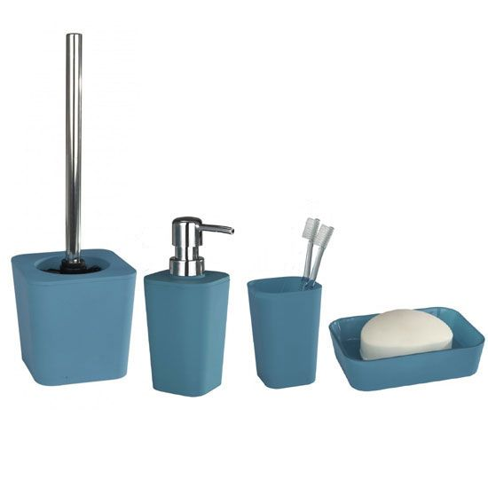 wenko rainbow bathroom accessories set turquoise at victorian plumbing uk - Blue Bathroom Accessories Uk