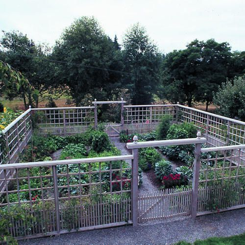 Deer Proof Vegetable Garden: A Graceful, Tall Fence Keeps Deer Out Of This  Edible Garden In The Country