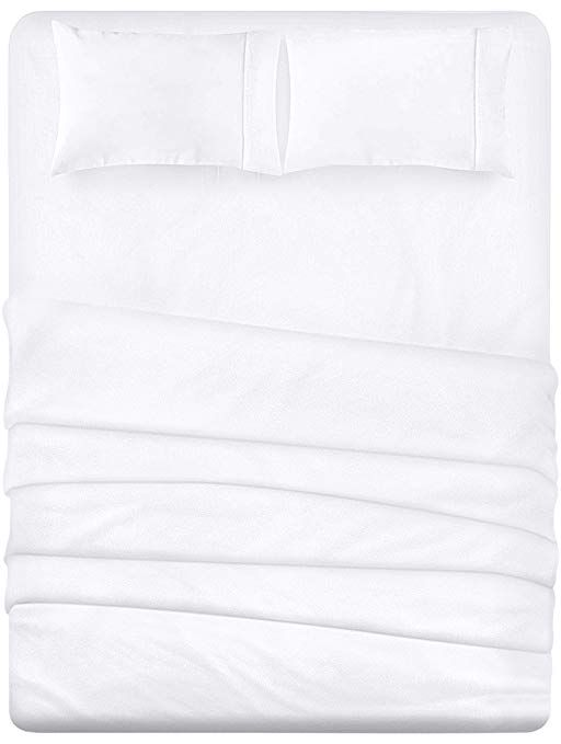 Utopia Bedding 4 Piece Bed Sheet Set Soft Brushed Microfiber Breathable Fade Resistant White Queen Amazon Ca Utopia Bedding Bed Sheet Sets Bed Sheets