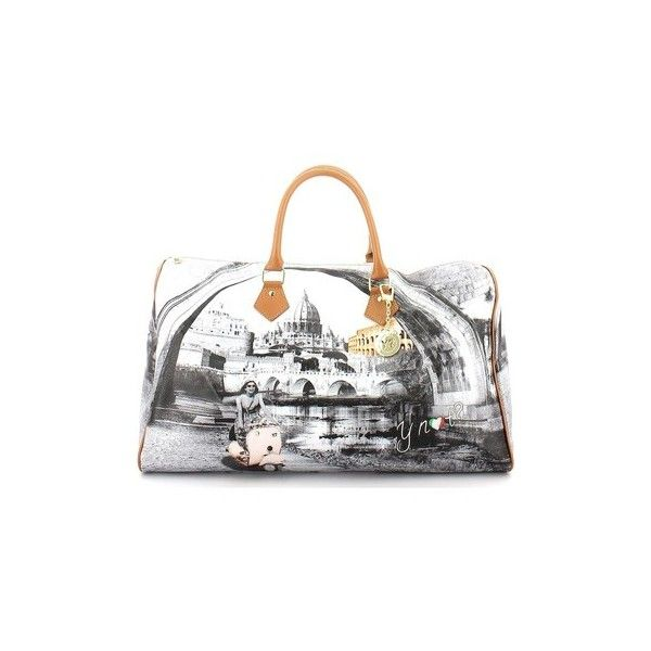 Ynot D359 Duffle Bags Accessories Handbags 60 Liked On Polyvore Featuring Orange Bag White