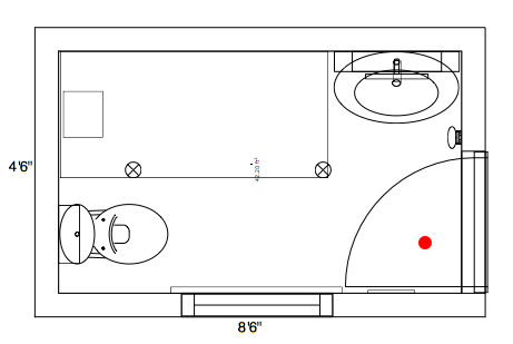 Free small bathroom floor plans with walk in shower for Cuarto que toda army quiere tener