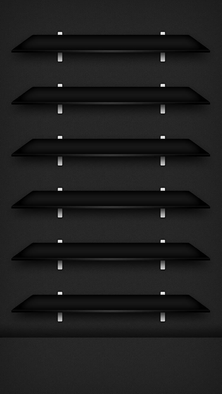 Wallpaper Iphone 7 wallpapers, Wallpaper shelves, Black
