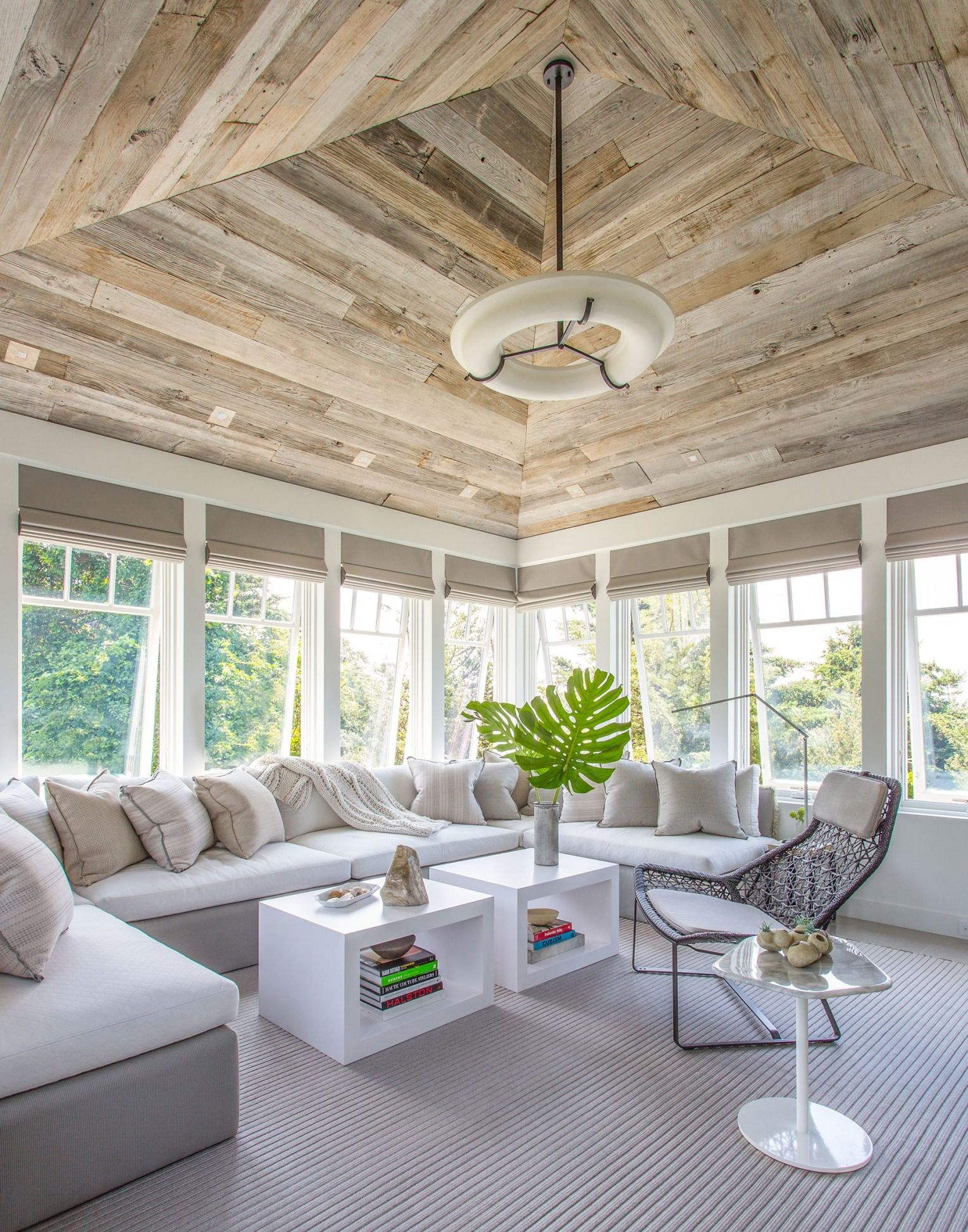 Window ideas for a sunroom  a polished retreat on cape cod  window landscaping and sunroom