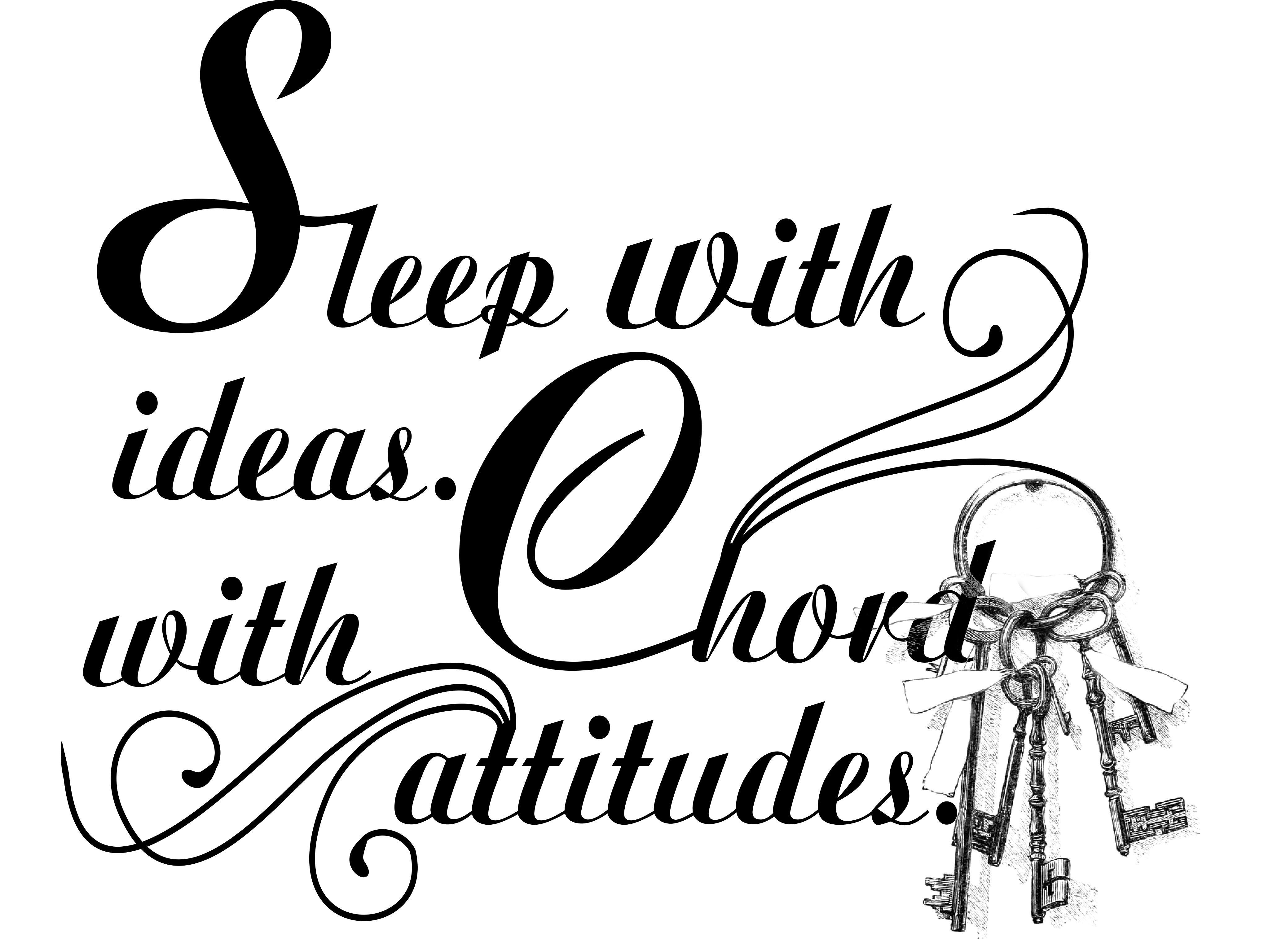 Durma com idéias acorde com atitudes