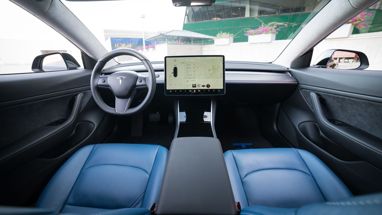 The First Customized Tesla Model 3 Tesla Model Automotive Upholstery Tesla