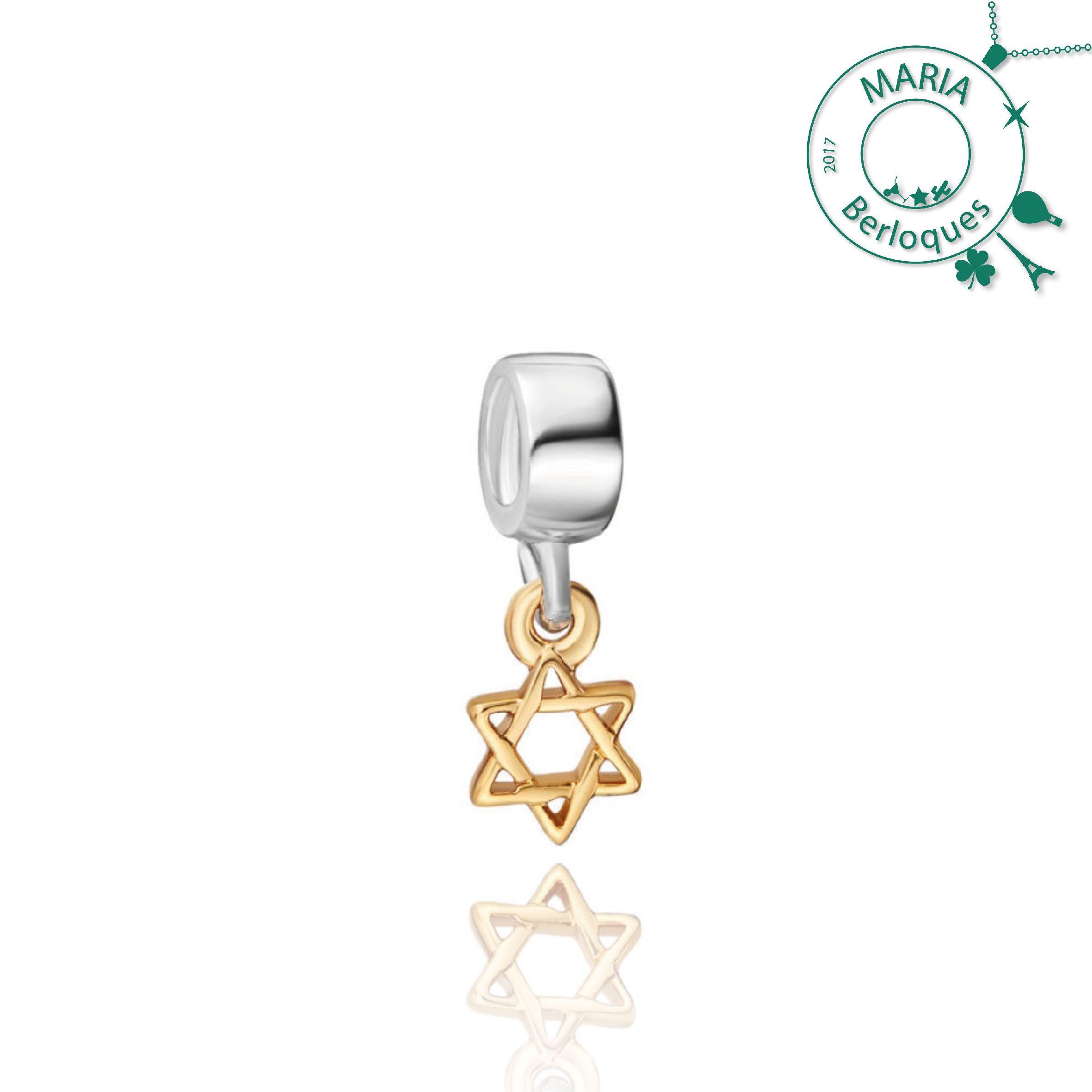 Berloque Estrela de Davi   David   Selo de Salomão, liga em prata 925 contém 5d51d877ab