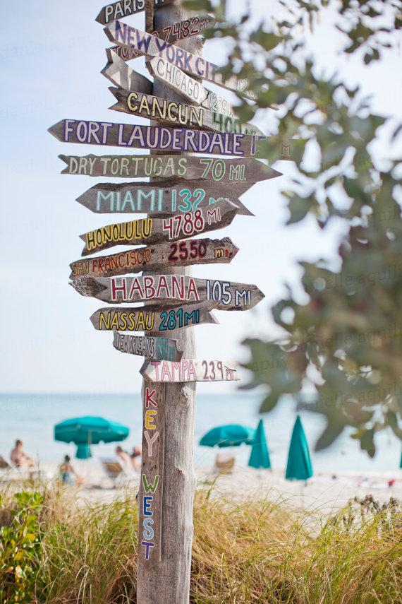 Key West Florida Ft Zachary Beach Fort Zachary Beach Key Etsy Beach Signs Key West Beach