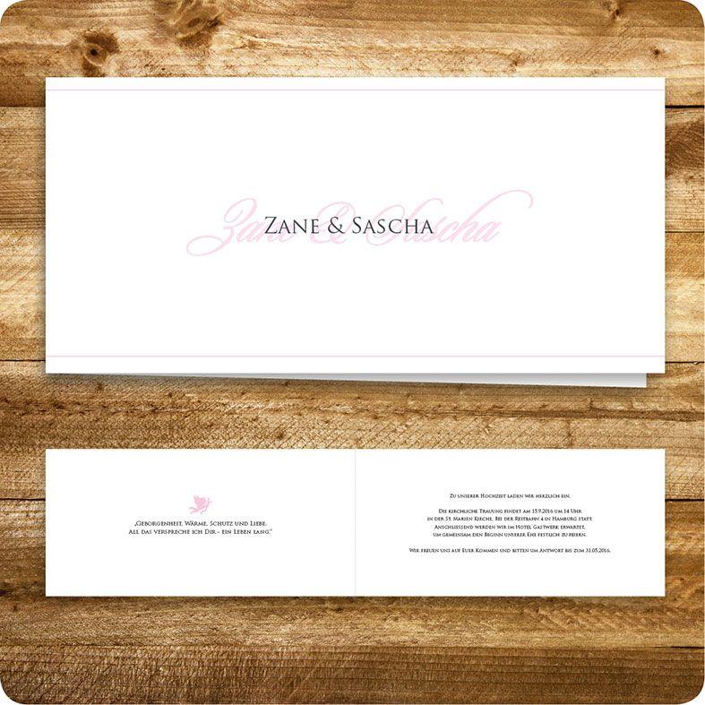 Einladungskarte, Einladung Für Hochzeit, Individuell Designed By Die  Kartenfrau