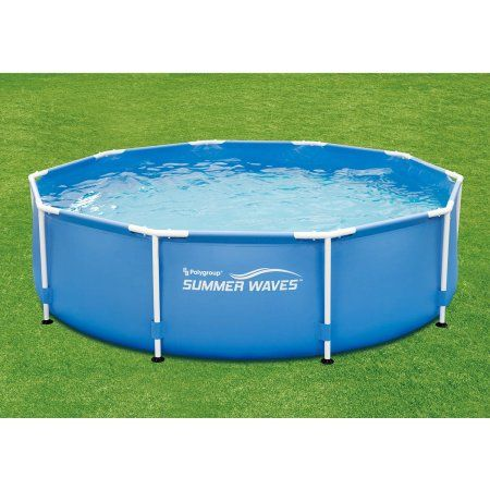 Summer Waves 10 X 30 Round Metal Frame Above Ground Swimming Pool Big Lots Pools Above Ground Swimming Pools Swimming Pools