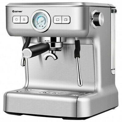 15 Bar Semi Auto Espresso Coffee Maker Machine W Milk Frother Steam Wand Coffee Maker Machine Espresso Machine Milk Frother Espresso machine with steam wand
