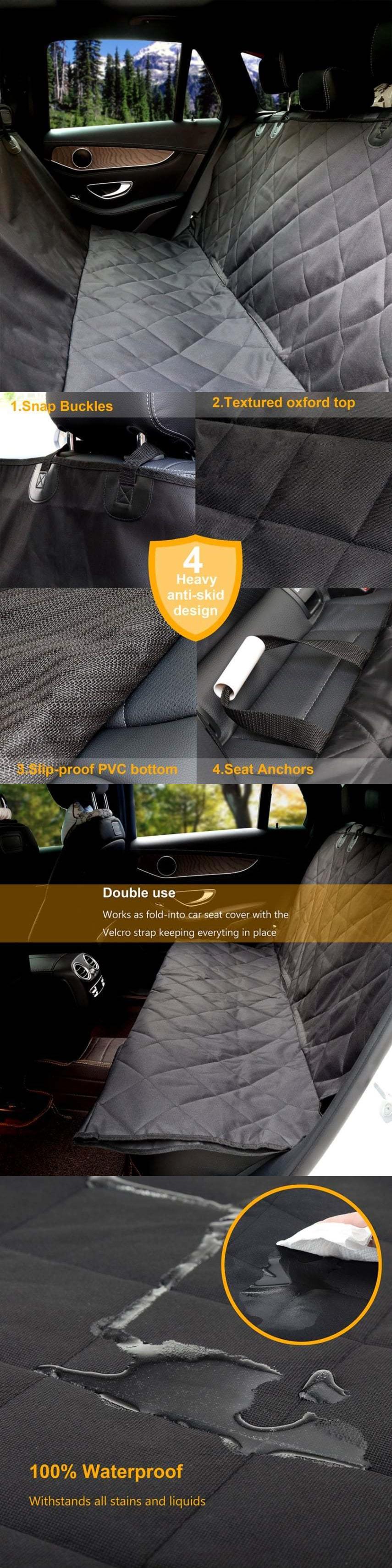 Car seat covers pet dog car seat cover rear waterproof