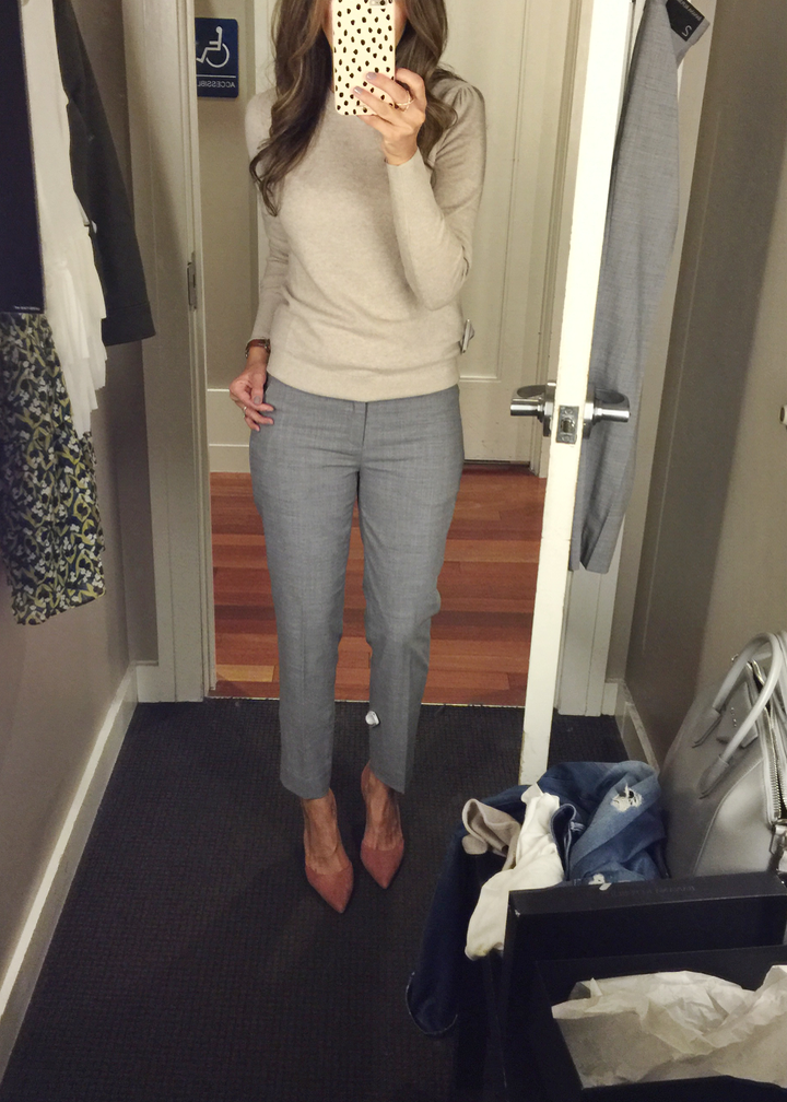 Fitting room snapshots - Banana Republic, Nordstrom, Loft ~ Lilly Style