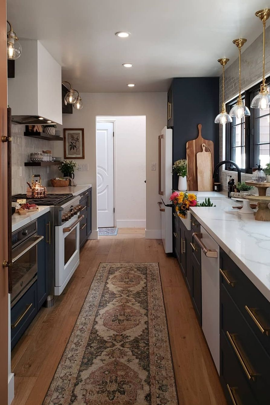 41 Best Galley Kitchen Designs Ideas For Rooms Of All Sizes 2021 Kitchen Remodel Small Galley Kitchen Design Kitchen Design Small Rustic galley kitchen ideas